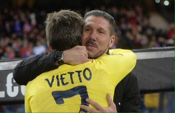 Vietto i Diego Simeone Foto: score.co.id